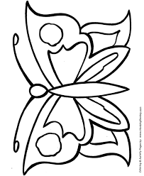 free printable large shapes easy coloring pages free printable large butterfly easy coloring