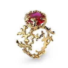ruby engagement rings coral ruby engagement ring statement ring gold ruby ring