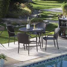 Wicker Patio Table And Chairs Landscape U0026 Patio Inspiring Outdoor Furniture Design Ideas With