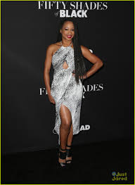 Shades Of Black Ally Brooke Hits U0027fifty Shades Of Black U0027 Premiere With Monique