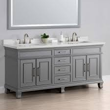 60 Bathroom Vanity Double Sink White by Charleston 72