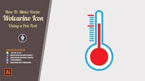 thermometer design thermometer icon design illustrator tutorial
