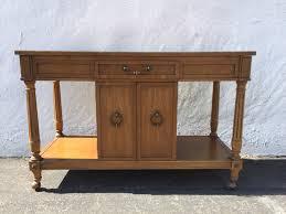buffet vintage bar tea cart server console cabinet storage mid
