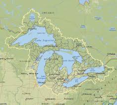 canadian map with great lakes great lakes