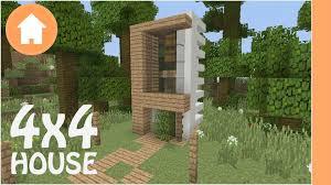 Lot House Minecraft House Tutorial 4x4 Modern Lot House Xbox Pe Youtube