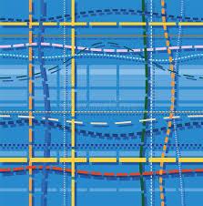 Hintergrundmuster Blau Hintergrund Muster Die Stiche Blau Vektor Abbildung Bild