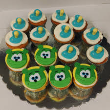 nuki nuki themed gummibär birthday cupcakes gummibär