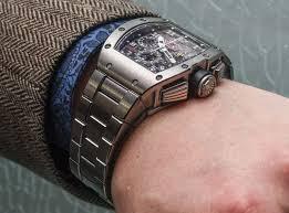 titanium bracelet watches images Richard mille rm 011 felipe massa watch with new titanium bracelet jpg