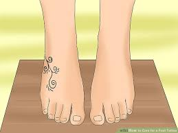 foot tattoo aftercare question 3 ways to care for a foot tattoo wikihow