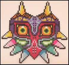 bead mask legend of majora s mask perler bead sprite by kantocrafts on