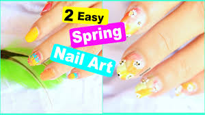 2 easy spring nail art designs diy cute flower nails style