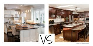 Images Of Kitchens With Oak Cabinets White Versus Wood Kitchen Cabinets Capid