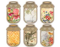 printable jar label sheets floral mason jar tags printable jar labels digital collage sheet