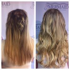 mermaid hair extensions this client had breakage on top and thin hair due to cancer