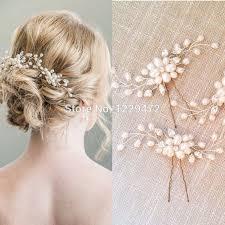 treazy elegant bridal wedding crystal pearl flower hair pins charm