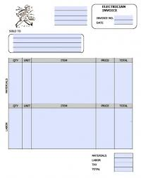 free electrician invoice template excel pdf word doc