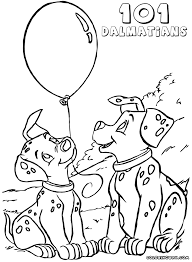 101 dalmatians coloring pages coloring pages download print