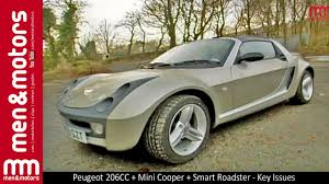 peugeot roadster peugeot 206cc mini cooper smart roadster common problems