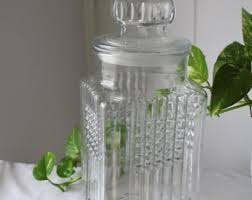 Glass Canisters Kitchen by Glass Jar With Lid Etsy
