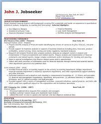 financial analyst resume sample creative resume design templates