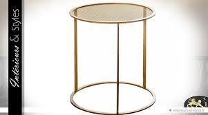 table basse bout de canapé bout de canapé rond design en métal doré ø 50 cm intérieurs styles