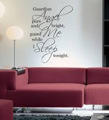 compare prices on bedroom wall quotes online shopping buy low guardian angel guard me while i sleep tonight wall art sticker quote bedroom wall decals 3