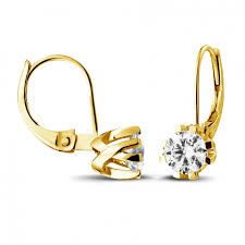 design of earrings gold yellow gold diamond earrings 1 80 carat diamond baunat