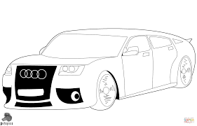 audi car coloring page free printable coloring pages