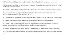 design expert 9 key solved 8 identify three road design elements that might