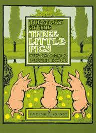 story pigs book cover greeting card