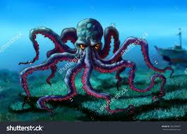 drawing figure octopus sketch octopus stock illustration 262394627