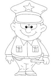 police coloring pages getcoloringpages
