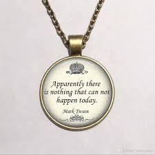 inspirational pendants wholesale unique necklace oscar wilde inspirational quote necklace