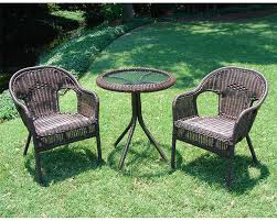 Outdoor Bistro Chairs International Caravan Somerset Wicker Resin Patio Bistro Set