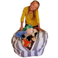 no beans about it stuffed animal storage beanbag chair u2013 blue digger