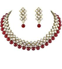 choker necklace beads images Buy traditional kundan and beads choker necklace set for women jpg