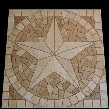 travertine tile mosaic texas star medallion u2013 artisan crafted works