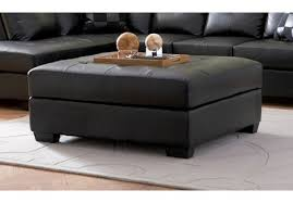 square leather coffee table caden leather square ottoman pottery barn for coffee table divani