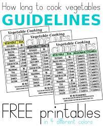 printable vegetable cooking guide