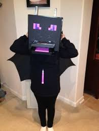Minecraft Villager Halloween Costume Ender Dragon Costume Wings Black Poster