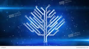 blue circuit board electronic hi tech tree loop stock animation