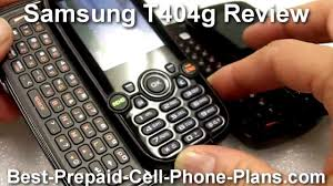 tracfone samsung t404g review youtube