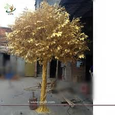 uvg gre044 real looking indoor artificial trees with golden banyan