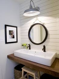 Farm Style Bathroom Vanities Farmhouse Style Bathroom With Lantern Lighting Interiordesignew Com