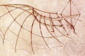 wing construction with engineering design by leonardo da vinci
