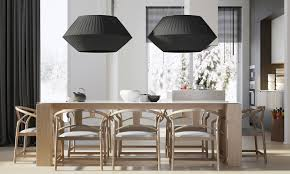 modern lighting as decoration in dining room design roohome
