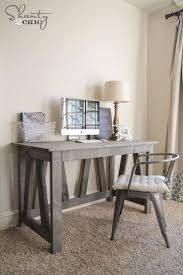 build a desk with these free plans free truss desk plan from shanty 2 chic