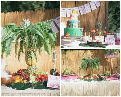 luau theme party hawaiian luau 6th birthday party