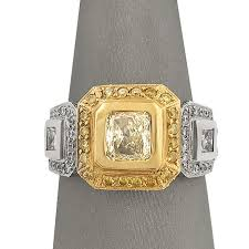 fancy yellow diamond engagement rings fancy yellow radiant diamond with yellow diamond halo fancy