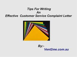 how to write an introduction in customer service complaint letter